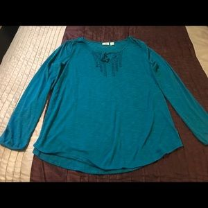 Women's Cato Teal Long Sleeve Top